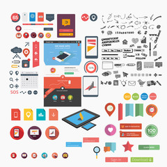 Massive collection of flat web graphics