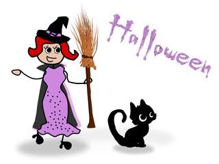 Hexe, Halloween, Kostümparty No6