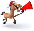 canvas print picture - Fun horse