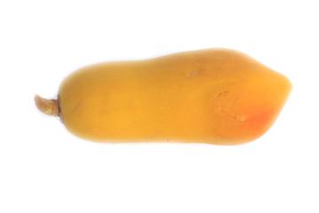 Papaya fruit isolated - Stock Image