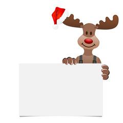 Weihnachten Elch Bommelmütze