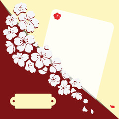 Romantic card with flowers