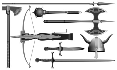 the medieval weapons