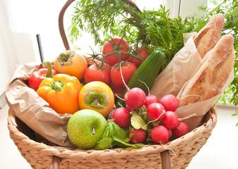 Frischer Einkauf vom Bauernmarkt