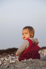 Baby am Strand