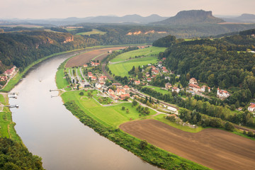 River Elbe in Saxon Switzerland