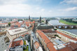Cityscape of Dresden and River Elbe