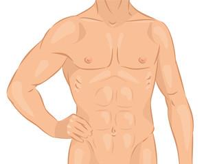 Naked male body