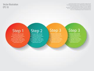 Steps - vector banner
