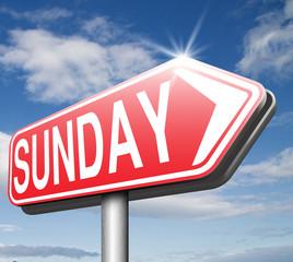 sunday sign