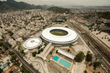 Aerial View of Maracana Football Stadium, Rio de Janeiro, Brazil