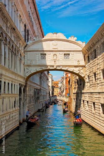 Poster Venice Bridge of sighs, Venice