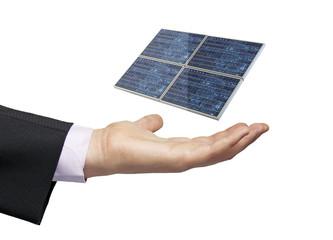 solar panel businessman