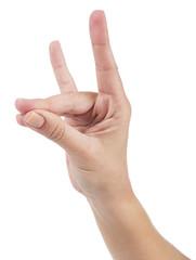 Hand signal of Turkish nationalists called bozkurt selami