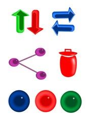 Botones, íconos, web o aplicaciones