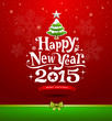 Happy New Year lettering Greeting Card background
