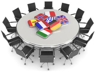 grauer runder Tisch länder