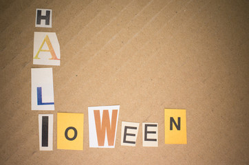 words collage  - halloween
