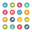 Food and Drink Icons - 2 -- Fresh Colors Series