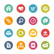 Web Site and Internet Icons -- Fresh Colors Series