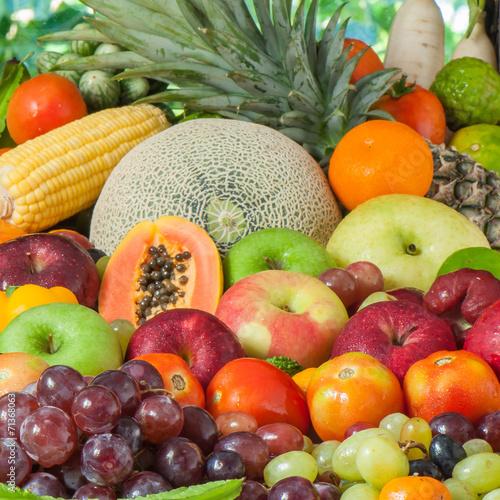 Fototapeta Fruits and vegetables