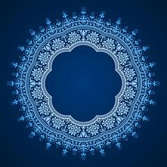 vector abstract circular frame - pattern design