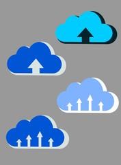 Nubes de subida a la web