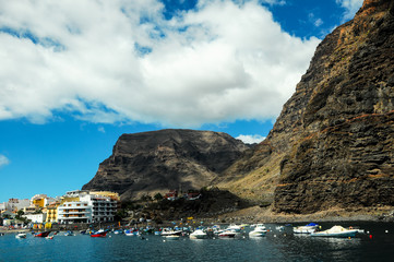 View of Valle Gran Rey La Gomera