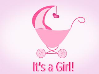 Geburt Mädchen, Glückwunsch Baby, Kinderwagen