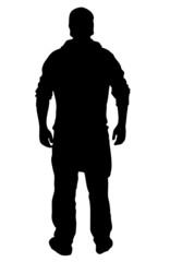 Silhouette eines Mannes mit Mütze