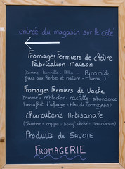pancarte, magasin bio,fromagerie,charcuterie