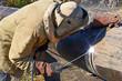 ������, ������: Welder on the pipeline repairs