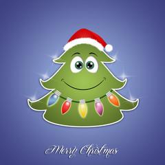 funny Christmas tree with lights
