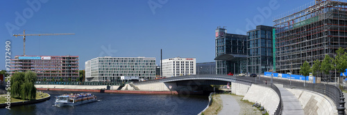 Fotobehang Treinstation Panorama - Berlin, Hauptbahnhof