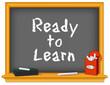 Chalk board, Ready to Learn, box, eraser, daycare, preschool