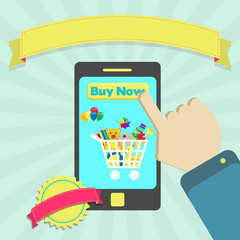 Buy toys online through phone
