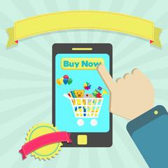 Buy toys online through phone