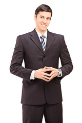 Vertical shot of a confident young businessman