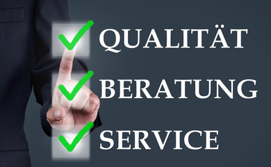 Qualität Beratung Service