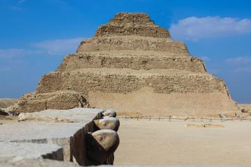 Step pyramid of Djoser. Desert. Saqqara. Egypt
