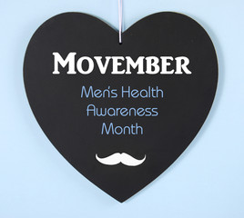 Movember mens health charity mustache symbol