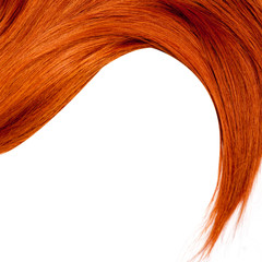 Healthy Red Hair isolated on white