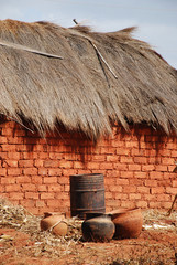 A typical house in the village of African Pomerini - Tanzania -