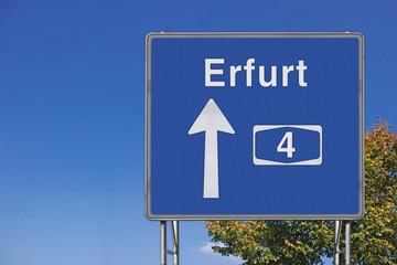 Wegweiser auf A4, Richtung Erfurt