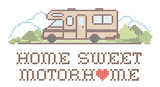 Home Sweet Motor Home, Class C Model, Cross Stitch Embroidery - 71375849