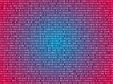 Red screen binary code screen