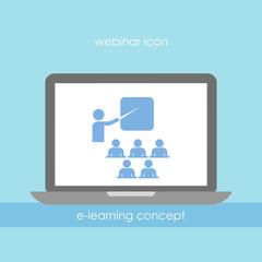E-learning webinar symbol