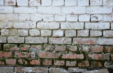 окрашенная старая кирпичная стена