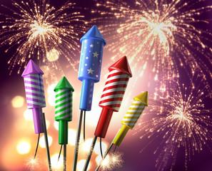 Feuerwerks-Raketen