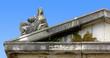 Female Statue over a Pediment